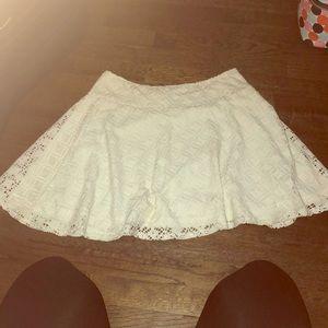 LA hearts white flowey mini skirt
